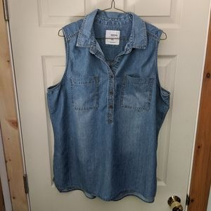 Sonoma Sleeveless Denim Top